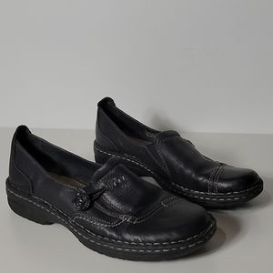Earth Spirit Erin Leather Slip On Button Shoes